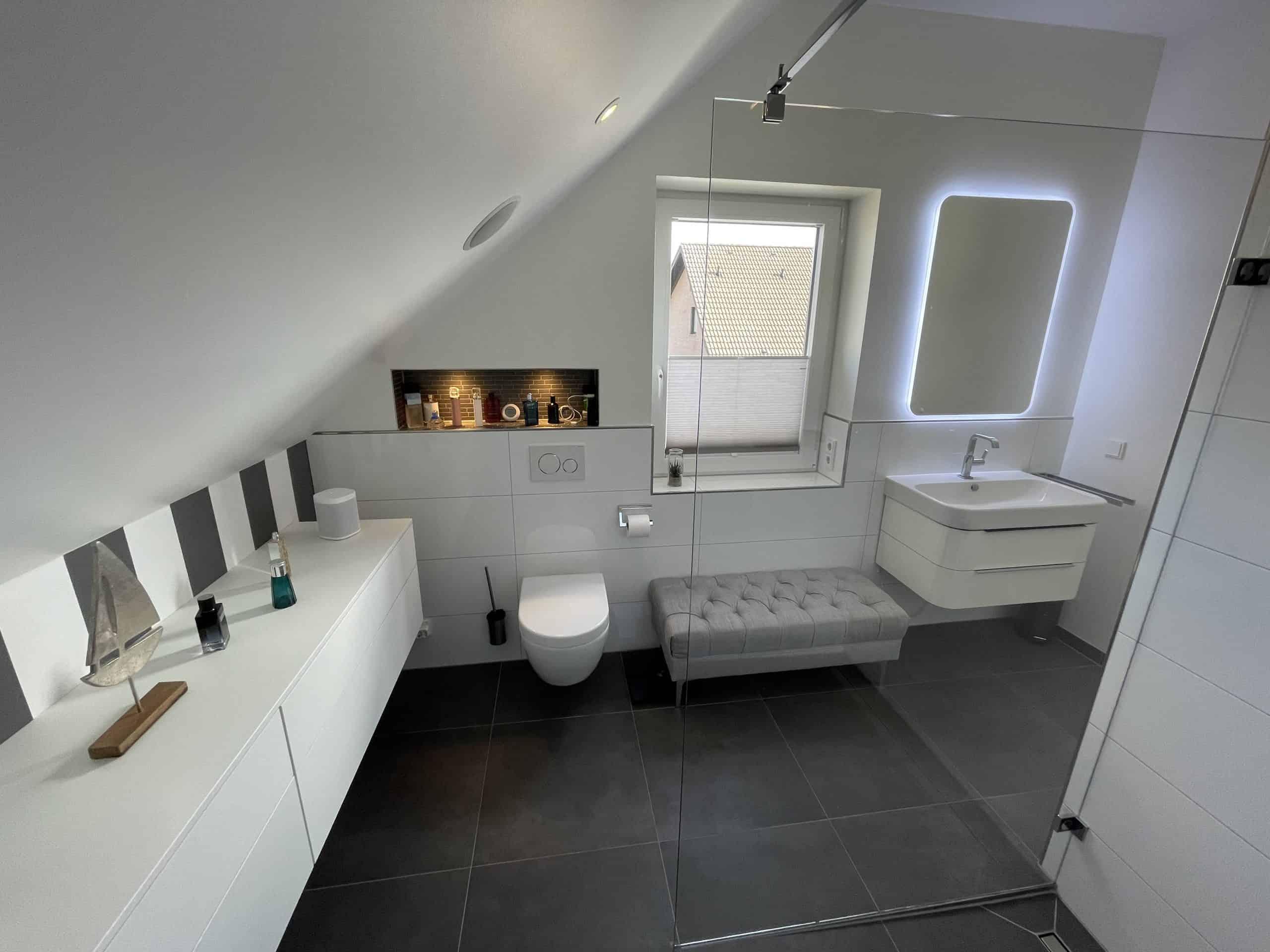 Baddesign Waschtisch WC nachher